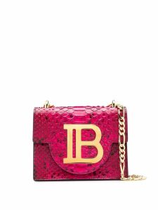 Balmain B-Bag 21 snake-effect shoulder bag - Pink
