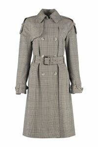 Michael Kors Checked Wool Trench Coat