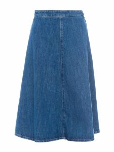 Miu Miu Denim Midi Skirt