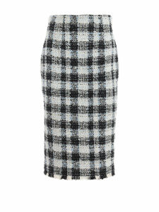 Alexander McQueen Skirt Check Tweed