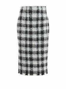 Alexander McQueen Skirt Check Tweed