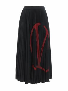 Valentino Jersey Plisse Skirt
