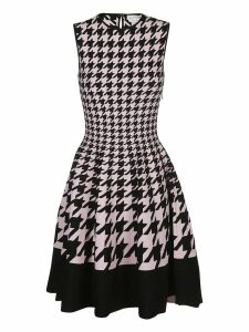 Alexander McQueen Houndstooth Flared Dress