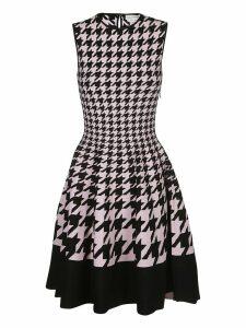 Alexander McQueen Houndstooth Flared Dress