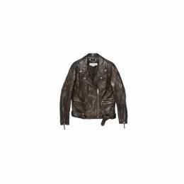 Golden Goose Yasu Leather Studded Jacket/chiodo Yasu