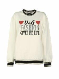 Dolce & Gabbana Crewneck Print Sweatshirt