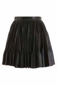 Marco de Vincenzo Pleated Faux Leather Mini Skirt
