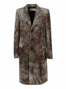 Saint Laurent Long Manteau Chesterfield Coat