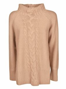 Max Mara Studio V-neck Embroidered Front Jumper