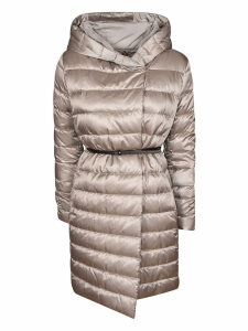Max Mara The Cube Padded Hooded One-sided Coat