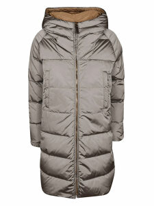 Max Mara Zipped Hooded Coat
