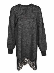 Givenchy Ribbed Knit Embroidered Logo Dress