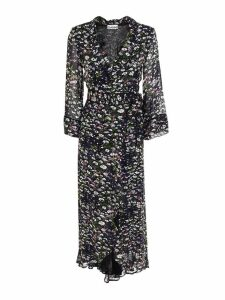 Ganni Printed Georgette Dress