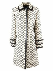 Alberta Ferretti Straight-cut Ivory-coloured Coat