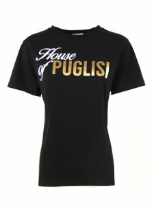 Fausto Puglisi Black Cotton T-shirt