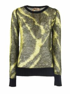 N.21 Black And Yellow Mohair Sweater