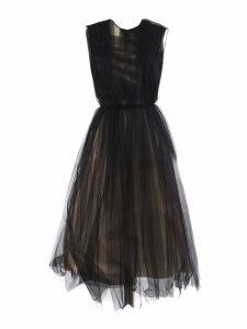 N.21 Black Ruffled Tulle Dress