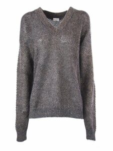 Brunello Cucinelli Mohair And Virgin Wool Sparkling Mesh Sweater