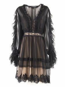 Alberta Ferretti Black Silk Dress