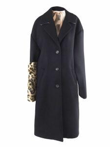 N.21 Black Wool Oversized Single Breast Coat