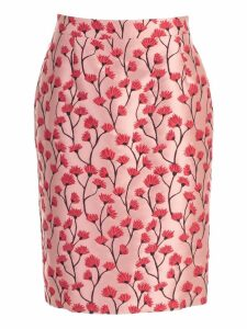 Be Blumarine Skirt Pencil Jacquard W/flowers