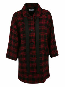 RED Valentino Checked Coat