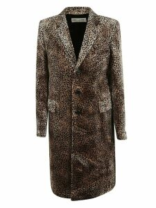Saint Laurent Animal Print Coat