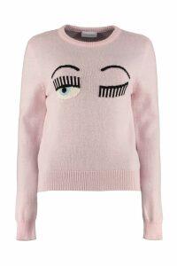 Chiara Ferragni Flirting Intarsia Crew-neck Sweater
