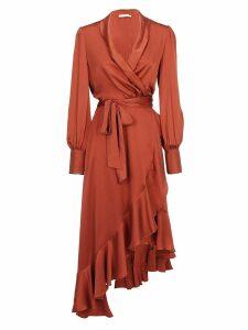 Zimmermann Wrap Midi Dress