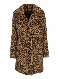 Parosh Animal Print Dress