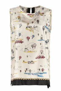 S Max Mara Here is The Cube Finale Printed Top