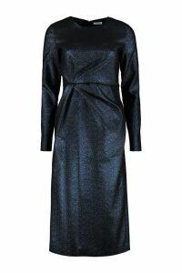 Parosh Draped Lurex Dress