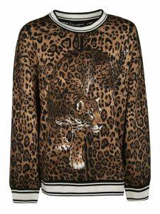 Dolce & Gabbana Animal Print Sweatshirt