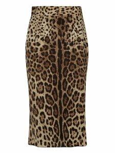 Dolce & Gabbana Animal Print Skirt