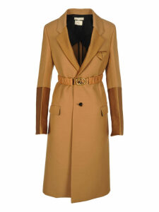 Bottega Veneta Wool Coat With Scuba Duchesse Details