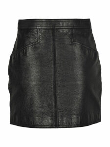 Saint Laurent Antiqued Leather Skirt