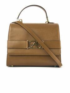 Alberta Ferretti Top Handle Bag In Smooth Camel Calfskin Leather