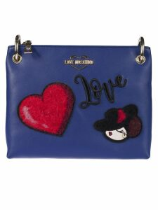 Love Moschino Embroidered Shoulder Bag