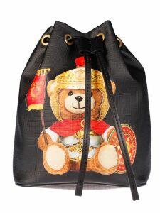 Moschino Teddy Print Bucket Bag