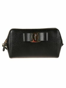 Salvatore Ferragamo Logo Bow Clutch