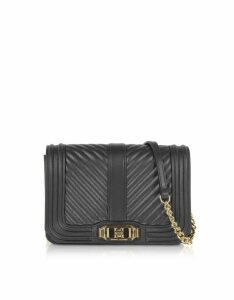 Rebecca Minkoff Black Nappa Leather Small Love Crossbody
