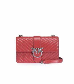 Pinko Mix Burgundy Nappa Leather Love Bag