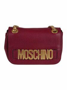 Moschino Logo Plaque Shoulder Bag