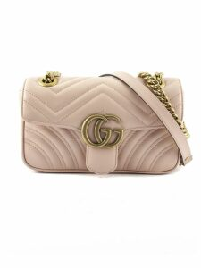 Gucci Gg Marmont Pink Matelassè Leather Mini Bag.