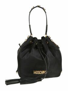 Moschino Logo Plaque Bucket Bag