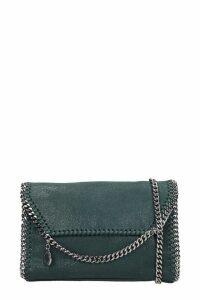 Stella McCartney Falabella Shoulder Bag In Green Polyester