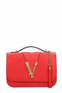 Versace Shoulder Bag In Red Leather