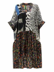 Rianna + Nina - Vintage Patchwork Print Silk Dress - Womens - Multi