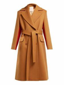 Roksanda - Nate Double Breasted Wool Blend Coat - Womens - Brown Multi