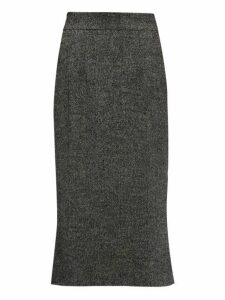 Dolce & Gabbana - Fluted Wool Blend Tweed Skirt - Womens - Grey